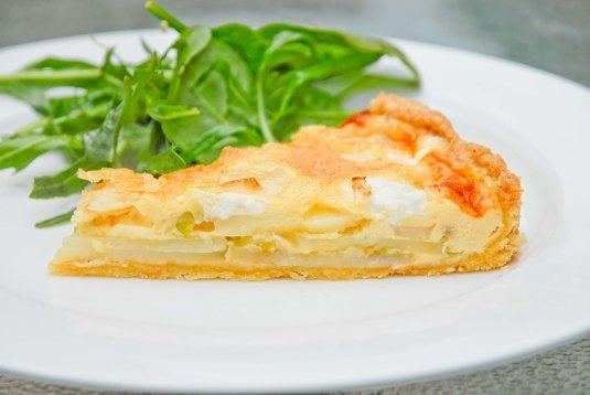Cheese Leek Tart slice2